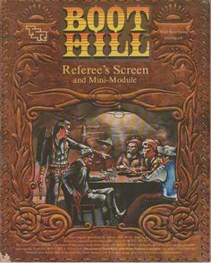 1981 Boot Hill Referee's Screen.  TSR Inc. by RubbersuitStudios #roleplayinggames #boothill