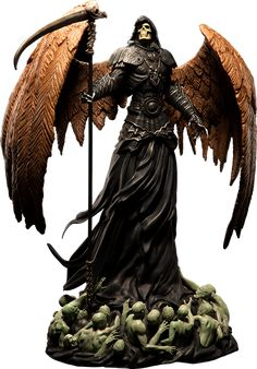 Sideshow Collectibles is proud to present the Angel of Death Statue from ARH Studios. Cast in high quality polystone, the Angel of Death is crafted in approxima 3d Figures, Action Figures, Dark Fantasy, Fantasy Art, Character Art, Character Design, Ange Demon, Angel Of Death, Angels And Demons