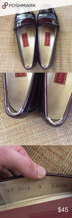 Cole Haan Ascot Bit Loafer dark brown size 9 Has been used with slight tears at heels (see picture/not noticeable when wearing) great condition.  https://m.colehaan.com/products/C02498 Cole Haan Shoes Loafers & Slip-Ons