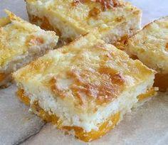 Lusta túrós barackkal Receptek a Mindmegette. Hungarian Desserts, Hungarian Recipes, Ital Food, Cake Recipes, Dessert Recipes, Romanian Food, Cheesecake Desserts, Bread And Pastries, Sweet Cakes