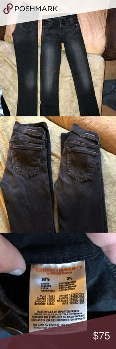 "Citizens of Humanity Ava Low Rise Straight Jeans Citizens of Humanity Ava Low Rise Straight Leg (fits like a skinny) Jeans- no inseam measurement is given but they fit exactly like my Miss Me 32"" inseam- there are two pair and they are in identical like NEW barely used or worn condition. They have fading into the knees as seen in the photos - regularly $200 or more per pair at Nordstrom Citizens Of Humanity Jeans Straight Leg"
