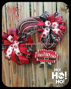 Santa wreath asouthernsparkle.com