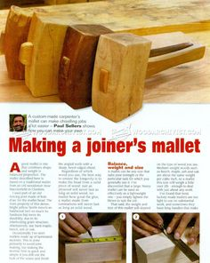 Making Joiners Mallet - Woodworking Hand Tools