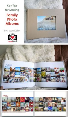 Key Tips for Making Family Photo Albums via Susan Keller and iHeartFaces.com