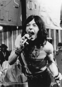 Mick Jagger at hist best, the rolling stones rock and roll circus