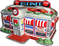 Coca Cola Town Square Village Tick Tock Diner Christmas - Mint 1993 Lighted. Had it... But the ex got it!