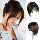 Mono Silk Base 100% Human Remy Topper Hair Hairpiece Clip in Wiglet Women UK | eBay