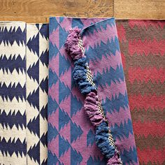 Grape/Indigo Zig Cotton Dhurrie Rug From Serena & Lily