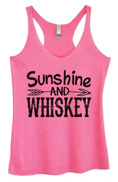Womens Tri-Blend Tank Top - Sunshine And Whiskey