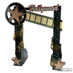 Accent your entrance for a star-studded affair! Complete your movie party or prom red-carpet experience with an entry way that will honor your celebrity . Hollywood Sweet 16, Old Hollywood Party, Hollywood Birthday Parties, Hollywood Night, Vintage Hollywood, Birthday Bash, Birthday Ideas, Red Carpet Theme Party, Hollywood Party Decorations