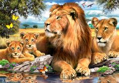 Image Gallery - someone painted the picture on canvas, but Jehovah painted the picture of paradise in our minds !! Beautiful painting by Howard Robinson.