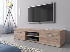 TV Unit Cabinet Stand Mambo Light Oak (Sonoma) 160 cm: Amazon.co.uk: Kitchen & Home