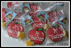 A+ Teacher Cookies by East Coast Cookies, via Flickr