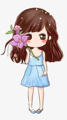 Kawaii Anime Girl, Kawaii Chibi, Cute Chibi, Anime Art Girl, Baby Animal Drawings, Art Drawings For Kids, Cute Drawings, Cute Couple Cartoon, Cute Cartoon Girl