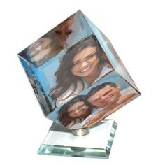 Personalised Crystal Cubes that cherish it forever