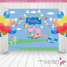 A personal favorite from my Etsy shop https://www.etsy.com/listing/220156839/personalized-peppa-pig-family-birthday