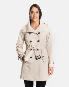 Andrea Military Trench Coat for Women | London Fog