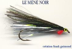 Méné Noir Fly Tying Patterns, Streamers, Fly Fishing, Patagonia, Recipes, Ideas, Black People, Salmon, Paper Streamers
