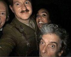 Cramped TARDIS selfie! #DoctorWho