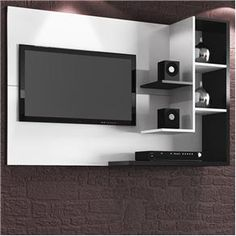 Very very sophisticated, stylish TV unit Tv Cabinet Design, Tv Wall Design, Tv Unit Design, Diy Tv Wall Mount, Wall Mounted Tv, Home Room Design, Living Room Designs, Tv Wall Panel, Tv Feature Wall