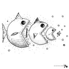fish eating fish eating fish...   disfordoodle.com