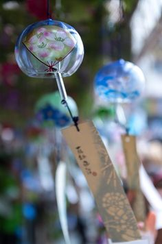 Japanese wind chimes, Furin 風鈴 I really want some of these! ^_^
