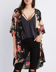 Floral Print Kimono love and like the shirt underneath.