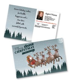 2016 holiday postcards from One Step Services #christmas #postcards #holiday #directmail #marketing