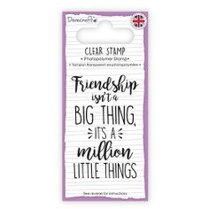 GBP - Dovecraft Clear Stamp Good Friends Are Hard To Find - Cards Scrapbooking & Garden Good Friends Are Hard To Find, Best Friends, Penny Black, Clear Stamps, Letter Board, Craft Supplies, Friendship, Card Making, My Love