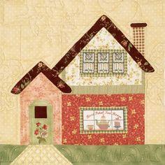 Patrón o Molde - Patchwork _ House block