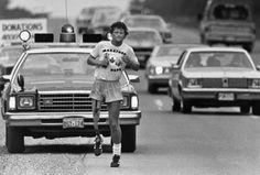 Cancer Victim Terry Fox on His Cross Canada Run