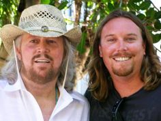Barry Gibb  his son Ashley ~ Of the four sons, Ashley looks the most like his dad.