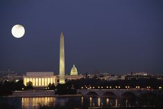 Love this shot!  Washington Monument & the Lincoln Memorial with the Capitol shining in the background.  Presidents' Day