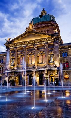 The Federal Palace is the name of the building in Bern in which the Swiss Federal Assembly and the Federal Council are housed. It consists of a central parliament building and two wings housing government departments and a library.