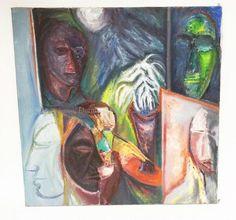 RICHARD MANN ABSTRACT OIL PAINTING ON CANVAS. 24 INCHES SQUARE. Lot 1190 | #1737578626 Oil Painting Abstract, Art, Craft Art, Kunst, Abstract Oil, Art Education, Sanat