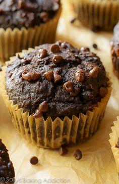 130 Calorie Chocolate Pumpkin Spice Muffins.