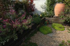 Fruit and Veg Garden in East London - Earth Designs Garden Design and Build Urban Garden Design, Herb Garden Design, Veg Garden, Summer Garden, Water Garden, London Garden, Contemporary Cottage, Earth Design, Fruit And Veg
