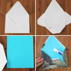 """""""3. Envelopes: If you need to mail out a bunch of invitations (hello wedding crafters!) and want to create totally unique envelopes, use newspaper. Bonus points if you use paper from the date of your engagement or another significant date."""""""