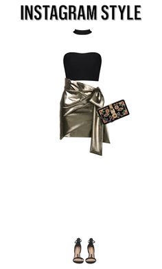"""""""Insta Party"""" by isababee ❤ liked on Polyvore featuring Yves Saint Laurent, Dolce&Gabbana, 60secondstyle and PVShareYourStyle"""