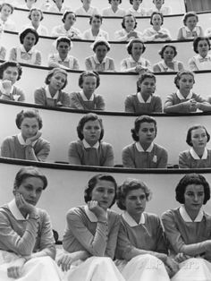 Student Nurses at Roosevelt Hospital Photographic Print