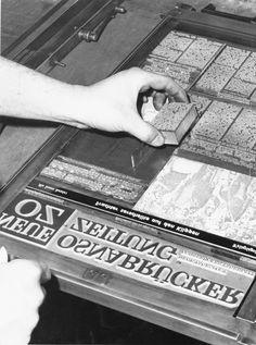So war es früher: Erstellen einer #Druckplatte mit dem #Bleisatz  #Neue #Osnabruecker #Zeitung. www.noz.de