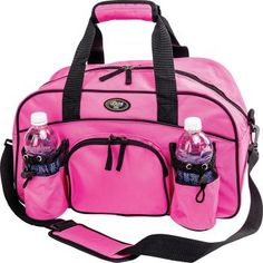 423b2e3086 Womans Ladies Sport Duffle Gym Bag Pink Tote Carry On Overnight Yoga Workout