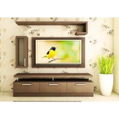 TV Unit with storage cabinets is stunning with its dark wood color adds beauty to your living room Shop Now mit mandir TV Units unit furniture TV Cabinets Bedroom Tv Unit Design, Tv Unit Furniture Design, Tv Unit Interior Design, Living Room Tv Unit Designs, Tv Wall Design, Tv Unit For Bedroom, Tv Cabinet Design Modern, Hall Design, Modern Tv Unit Designs