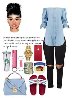 """Fed UP"" by ai-ajah on Polyvore featuring Boohoo, adidas Originals, Akira, Vaseline, Mark Cross, Rolex, Gucci, WALL and POLICE"