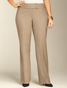 Talbots - Curvy Lindsey Bootcut Pants   Pants   Woman