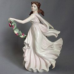 1998 Vintage WEDGWOOD FIGURINE STATUE LADY Winter Rhapsody SPIRITS of the SEASON…