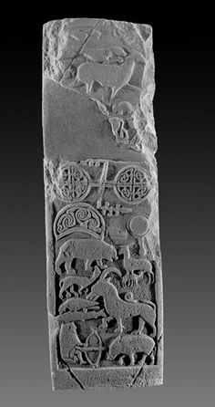 Image from a grave stone from Meigle, Strathmore, Scotland. Dated to the 9th Century.
