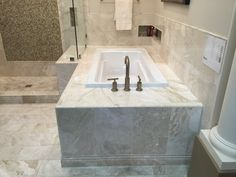 drop in tub with tile surround