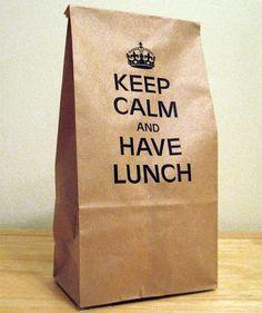 keep calm... lunchbag