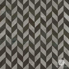 Herringbone Pattern Furniture Stencils for DIY Geometric Modern Halloween Decorations